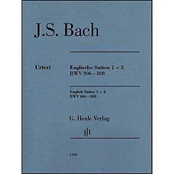 G. Henle Verlag English Suites 1-3 BWV 806-808 By Bach (51481102)
