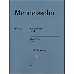 G. Henle Verlag Piano Works Volume I By Mendelssohn (51480860)