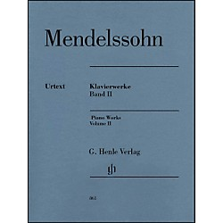G. Henle Verlag Piano Works Volume II By Mendelssohn (51480861)
