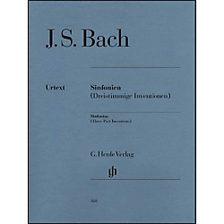 G. Henle Verlag Sinfonias BWV 787-801 (Three Part Inventions) By Bach (51480360)