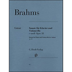 G. Henle Verlag Sonata For Piano And Violoncello E Minor Op38 By Brahms (51480018)