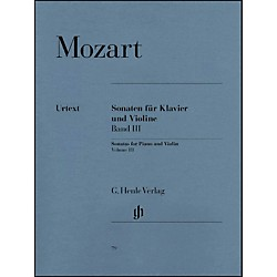 G. Henle Verlag Sonatas for Piano and Violin - Volume III By Mozart (51480079)
