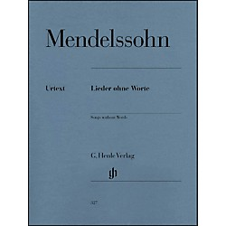 G. Henle Verlag Songs Without Words By Mendelssohn (51480327)