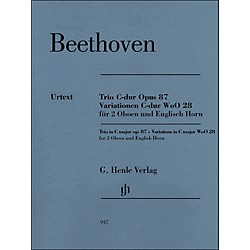 G. Henle Verlag Trio In C Major Op. 87 Variations In C Major Woo28 For 2 Oboes And English Horn By Beethoven / Voss (51480947)