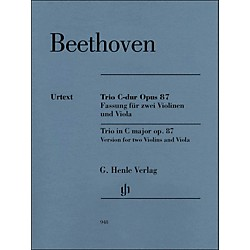 G. Henle Verlag Trio In C Major Op. 87 Version For 2 Violins And Viola By Beethoven / Voss (51480948)