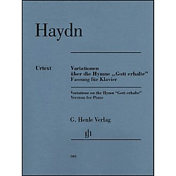 "G. Henle Verlag Variations on the Hymn ""Gott erhalte"" For Piano By Haydn (51480949)"