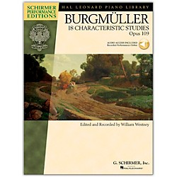 G. Schirmer 18 Characteristic Studies, Op. 109 - Schirmer Performance Edition Book/CD By Burgmuller / Westney (296756)