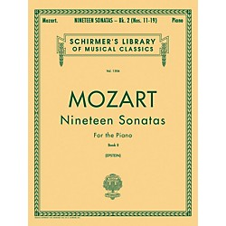 G. Schirmer 19 Sonatas For The Piano Book 2 English / Spanish Text By Mozart (50258600)
