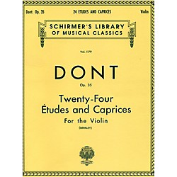 G. Schirmer 24 Etudes And Caprices For The Violin Op 35 By Dont (50258080)