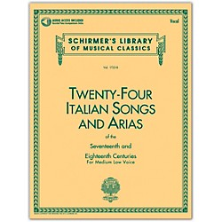G. Schirmer 24 Italian Songs & Arias Medium Low Book/CD (50481593)