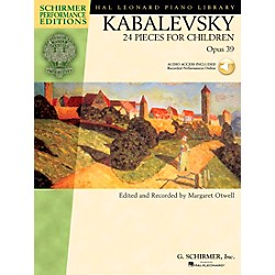 G. Schirmer 24 Pieces For Children Op 39 Book/CD - Schirmer Performance Edition By Kabalevsky / Otwell (296691)