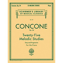 G. Schirmer 25 Melodic Studies Op 24 For Piano By Concone (50252980)