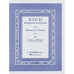 G. Schirmer 371 Harmonized Chorales & 69 Chorale Melodies With Figured Bass By Bach (50327600)