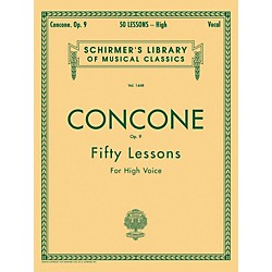 G. Schirmer 50 Lessons, Op. 9 by Concone For High Voice (50259430)
