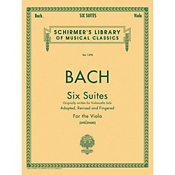 G. Schirmer 6 Suites For Unaccompanied Viola Originally For Violoncello By Bach (50258440)