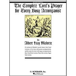 G. Schirmer Complete Lord's Prayer For Every Busy Accompanist (50481088)