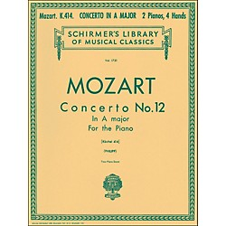 G. Schirmer Concerto No 12 A Major K414 2 Pianos 4 Hands Score By Mozart (50261210)