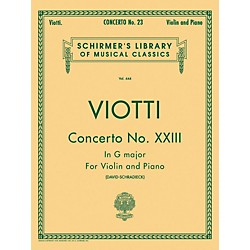 G. Schirmer Concerto No 23 G Major Violin Piano By Viotti (50254990)