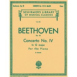 G. Schirmer Concerto No 4 In G Major Op 58 2 Pianos 4 Hands By Beethoven (50255800)