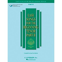 G. Schirmer Easy Songs For The Beginning For Tenor Voice Part II Book/CD (50486244)