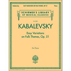 G. Schirmer Easy Variations On Folk Themes Op 51 Piano By Kabalevsky (50486180)