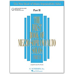 G. Schirmer First Book Of Mezzo-Soprano / Alto Solos Part 2 Book/2CDs (50483786)
