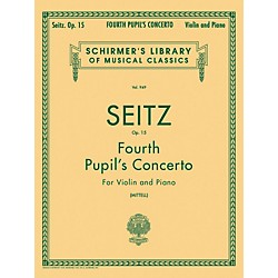 G. Schirmer Fourth Pupil's Concerto No 4 In D Op 15 Violin And Piano By Seitz (50257120)