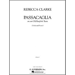 G. Schirmer Passacaglia Va/Pno Of An Old English Tune Viola And Piano By Clarke (50483591)