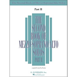 G. Schirmer Second Book Of Mezzo-Soprano / Alto Solos Part 2 Book Only (50485222)