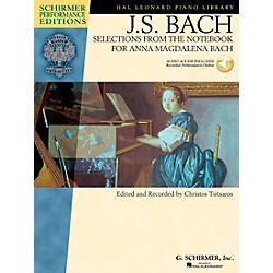 G. Schirmer Selections From The Notebook For Anna Magdalena Book/CD Schimer Performance Edition By Bach / Tsitsa (296589)