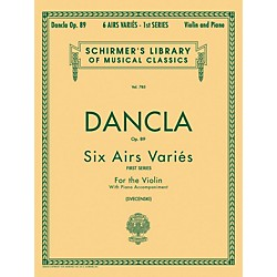G. Schirmer Six Airs Varies Op 89 Violin Piano By Dancla (50256340)