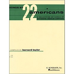 G. Schirmer Songs By 22 Americans For High Voice (50329400)