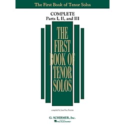 G. Schirmer The First Book Of Tenor Solos Complete Parts 1, 2 and 3 (50498743)