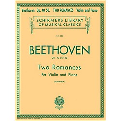 G. Schirmer Two Romances Op 40 and 50 for Violin / Piano By Beethoven (50253660)