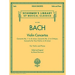 G. Schirmer Violin Concertos (A Minor, E Major, D Minor For Two Violins) Violin/Piano By Bach (50486769)