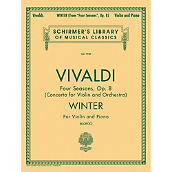 G. Schirmer Winter From Four Seasons Violin / Piano Op 8 By Vivaldi (50263000)