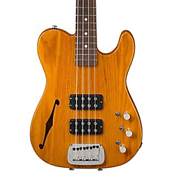 G&L ASAT Semi-Hollow Electric Bass Guitar (GC-ASATB-HNBRS-R)