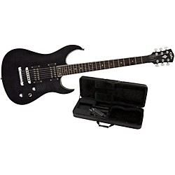 G&L Tribute Fiorano GTS Electric Guitar Transparent Black Rosewood Fretboard w/ Padded G&L Guitar Case (TI-FIO-C37R43R03 W/Case)