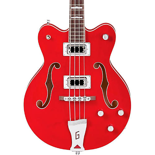 Gretsch Guitars G5442BDC Electromatic Short Scale Hollowbody Bass Transparent Red