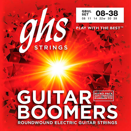 GHS GBUL Boomers Ultra Light Electric Guitar Strings-thumbnail