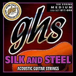 GHS 350 Silk and Steel Medium Acoustic Guitar Strings (350)