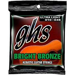 GHS BB10U 80/20 Bronze Ultra Light Acoustic Guitar Strings (BB10U)