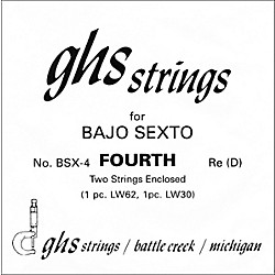 GHS BSX4 Bajo Sexto Single Guitar String (BSX4)