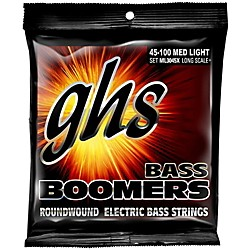 GHS Boomers Long Scale Plus Medium Light Bass Guitar Strings (ML3045X)