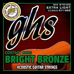 GHS Contact Core Bright Bronze Medium Acoustic Guitar Strings (11-50) (CCBB20)