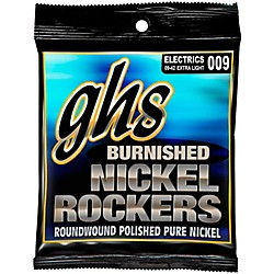 GHS Extra Light Burnished Nickel Guitar Strings (BNR-XL)