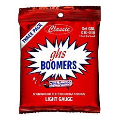 GHS GBL Boomer 3-Pack Classic Electric 10-46 Electric Guitar Strings (GBL-3CL)
