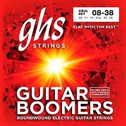 GHS GBUL Boomers Ultra Light Electric Guitar Strings (GBUL)