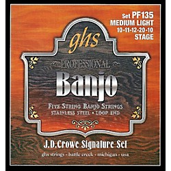 GHS J.D. Crowe Signature 5-String Banjo Medium Light Strings (PF135)
