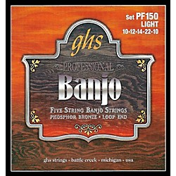 GHS Phosphor Bronze 5-String Banjo Strings Light (PF150)